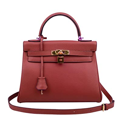 4ea8ed304714 Amazon.com  Ainifeel Women s Padlock 32CM 28CM 25 CM Shoulder ...
