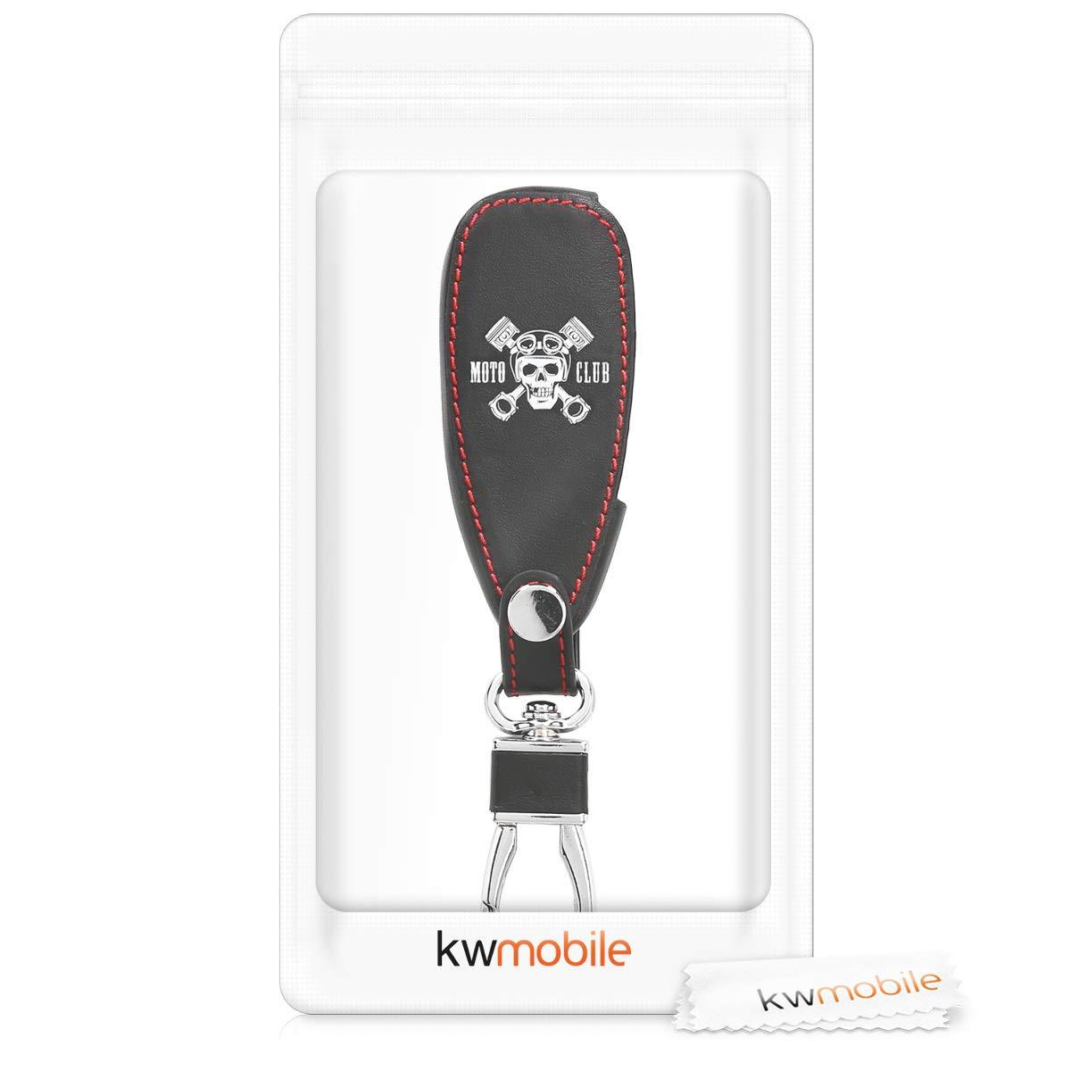 kwmobile Funda para Llave Keyless Go de 3 Botones para Coche Ford - Case para Mando y Control de Auto con dise/ño Dont Touch my Key Cubierta de Cuero sint/ético