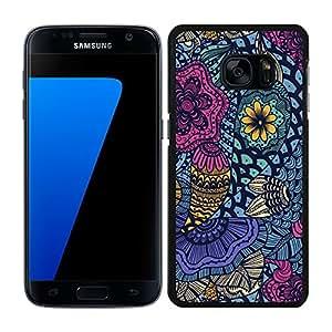 FUNDA CARCASA PARA SAMSUNG Galaxy S7 Edge ESTAMPADO FLORES BORDE NEGRO