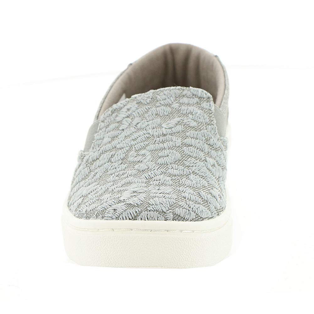 TOMS Neutral Grey Cheetah Embroidery Twill Glimmer Youth Luca Slip-Ons Shoes (12 M Little Kid) by TOMS Kids (Image #5)
