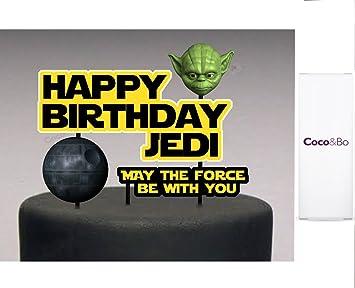 Carte Anniversaire Yoda.1 X Coco Bo Star Wars Joyeux Anniversaire Gateau Jedi