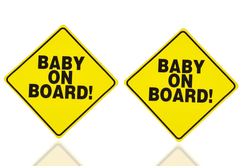 e779c5109f8 Zone Tech 2x Baby on Board Vehicle Car Warning Bumper Decal Sticker ...