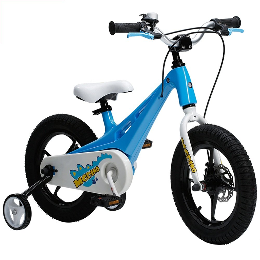 PJ 自転車 CHILDREN'S KIDS BIKE 軽量マグネシウムフレーム スタビライザー キックスタンド。 子供と幼児に適しています ( 色 : 青 ) B07CQSV8JP 青 青