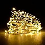 Weihnachtsbeleuchtung, Acelive 10M 100er IP65 Wasserdicht LED Kupferdraht Lichterkette Warmweiß für Innen außen Schlafzimmer Fenste Garten