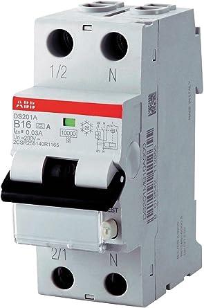 PK FI-Schutzschalter ABB-DS201A-B16/0,03 (2-polig, 230 V, 16 A ...