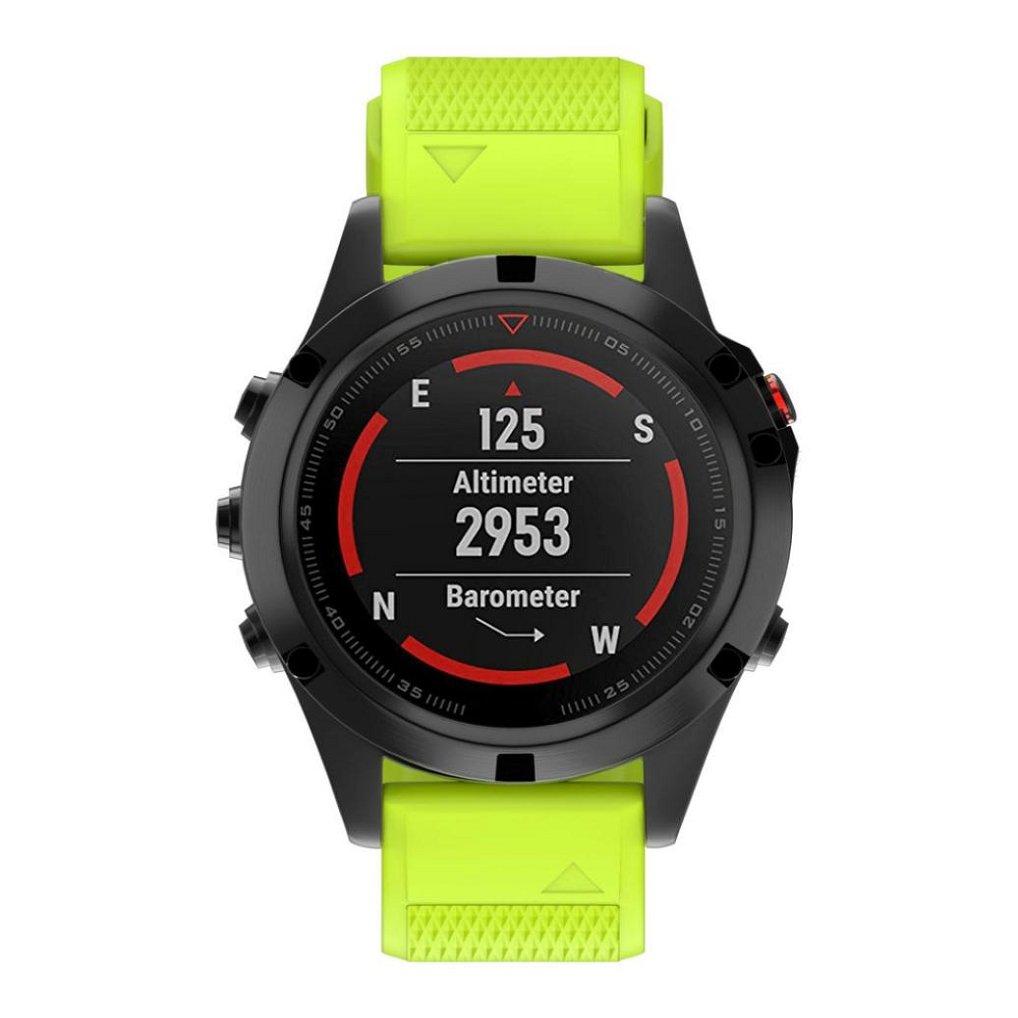 Appoiパーソナライズスタイル時計ストラップ交換用シリカゲルソフトバンドストラップfor Garmin Fenix 5 GPS Watch  グリーン B075Q54SJK