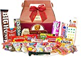 Candy Crate 1960's Decade Candy Gift Box - Over 2 Pounds of Nostalgic Favorites - Burgundy Box