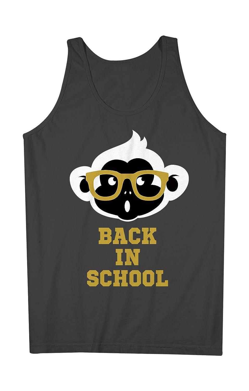 Back In School Funny Student Teacher Monkey Mens Tank Top Sleeveless Shirt