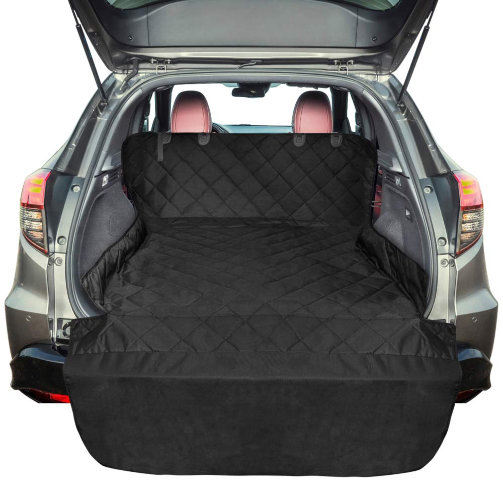 FunniPets SUV Cargo Liner for Dogs, Waterproof Cargo Cover for SUV, Large Size Pet Seat Cover with Non-Slip Backing and Protective Bumper Flap
