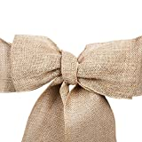 sarvam fashion SF_New Natural Burlap Jute Chair Bow Sashes for Wedding Party Decor 6.5'' X 108'' Pack of (1)