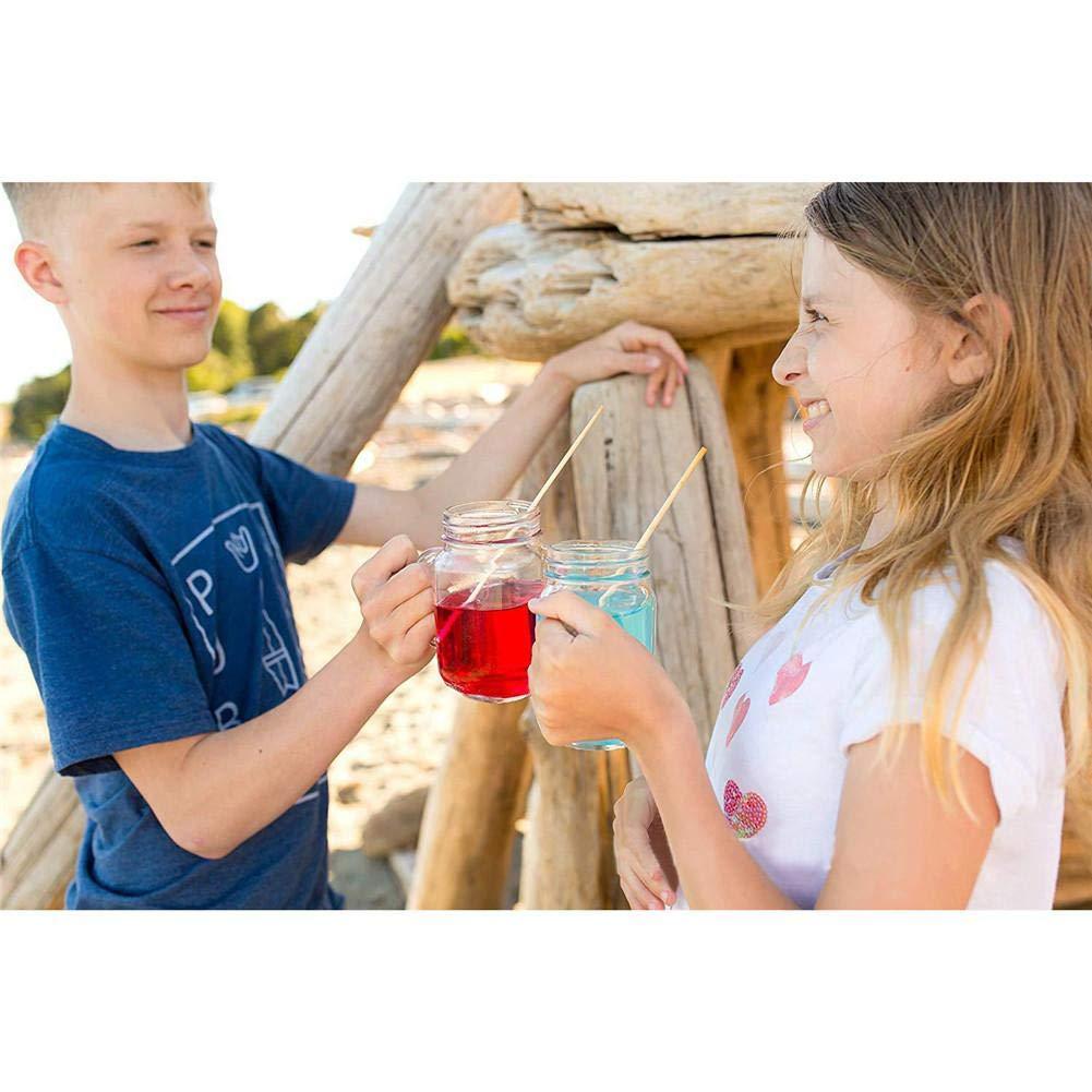 Pajas biodegradables no contaminantes Pajitas de Trigo Totalmente Naturales para Bebidas de 7.87 Pulgadas Kitabetty 100pcs Pajas de Beber de Trigo