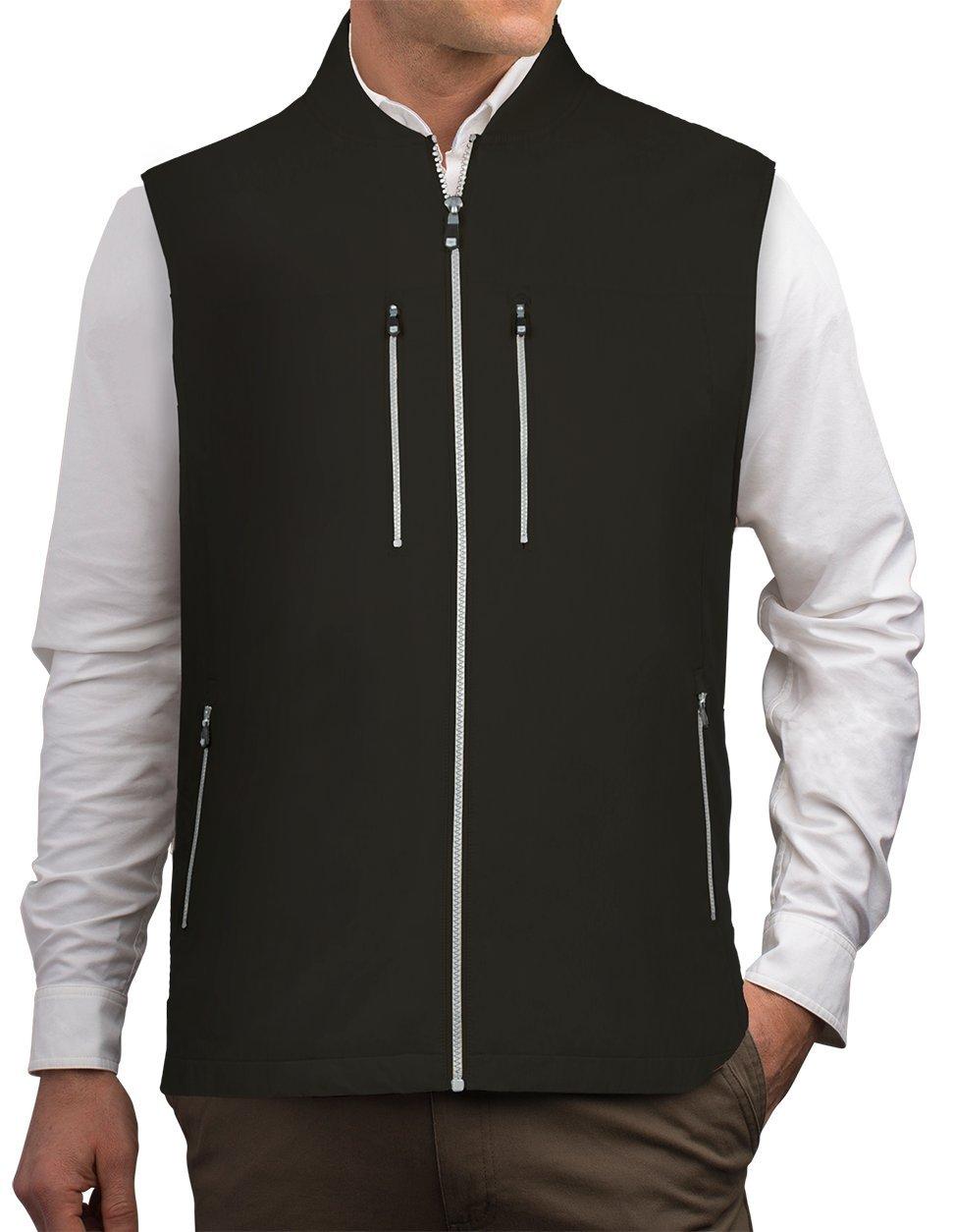 SCOTTeVEST 101 Travel Vest for Men - Hidden Pockets - Lightweight Utility Vest BLK XXXL by SCOTTeVEST