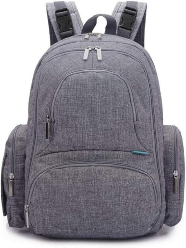 Waterhigh - Bolso cambiador de pañales para bebé, mochila de viaje con cambiador portátil (gris) gris gris Talla:44x34x19cm