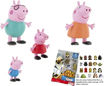 Comansi Lote 4 Figuras Peppa Pig - George - Mama Pig - Papa Pig + Regalo: Amazon.es: Juguetes y juegos