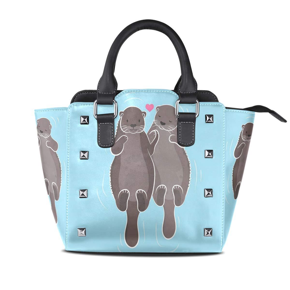 Design5 Handbag Mole Animal Cartoon Cute Genuine Leather Tote Rivet Bag Shoulder Strap Top Handle Women
