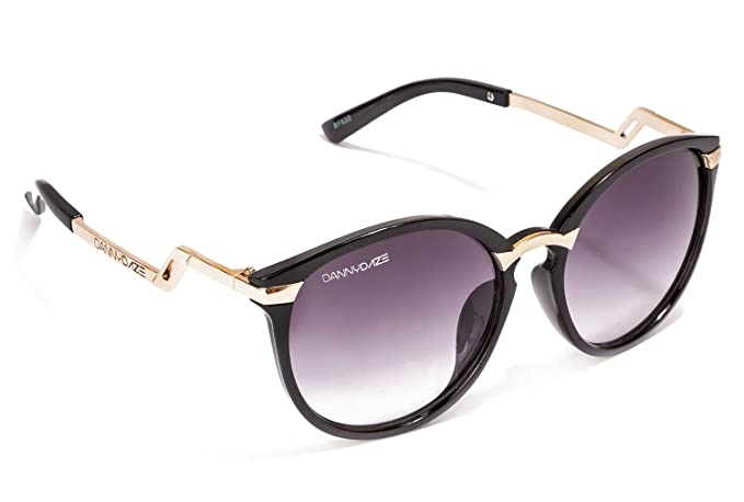 2b82d299870 Image Unavailable. Image not available for. Colour  Danny Daze Cateye  Sunglasses (Black) (D-2504-C1)