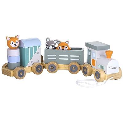 Kindsgut - Tren de Madera con animalitos: Juguetes y juegos