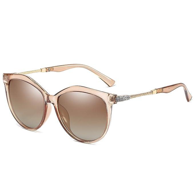 WHCREAT Clásico Moda Gafas De Sol Polarizadas Para Mujer Cat-Eye Estilo UV400 Lente de