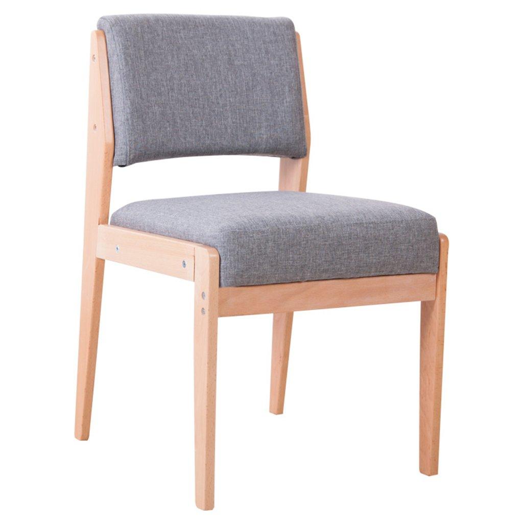 ERRUダイニングチェア 木製ダイニングテーブルソファー椅子家庭用バックレストチェア(5色、46 * 52 * 78cm) ( 色 : グレー ) B078R3VFB5 グレー グレー