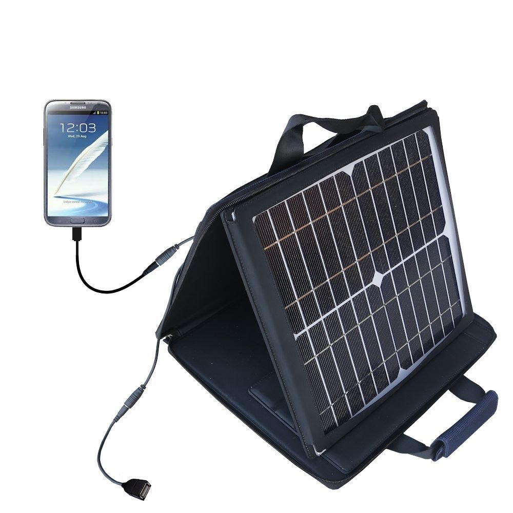 Gomadic SunVolt High Output Portable Solar Power Station designed for the Samsung Galaxy Note II - Can charge multiple devices with outlet speeds by Gomadic