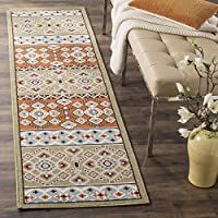 Safavieh Veranda Collection VER093-0742 Indoor/ Outdoor Green and Terracotta Runner (23 x 8)
