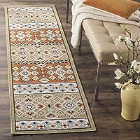 Safavieh Veranda Collection VER093-0742 Indoor/ Outdoor Green and Terracotta Runner (23 x 8)