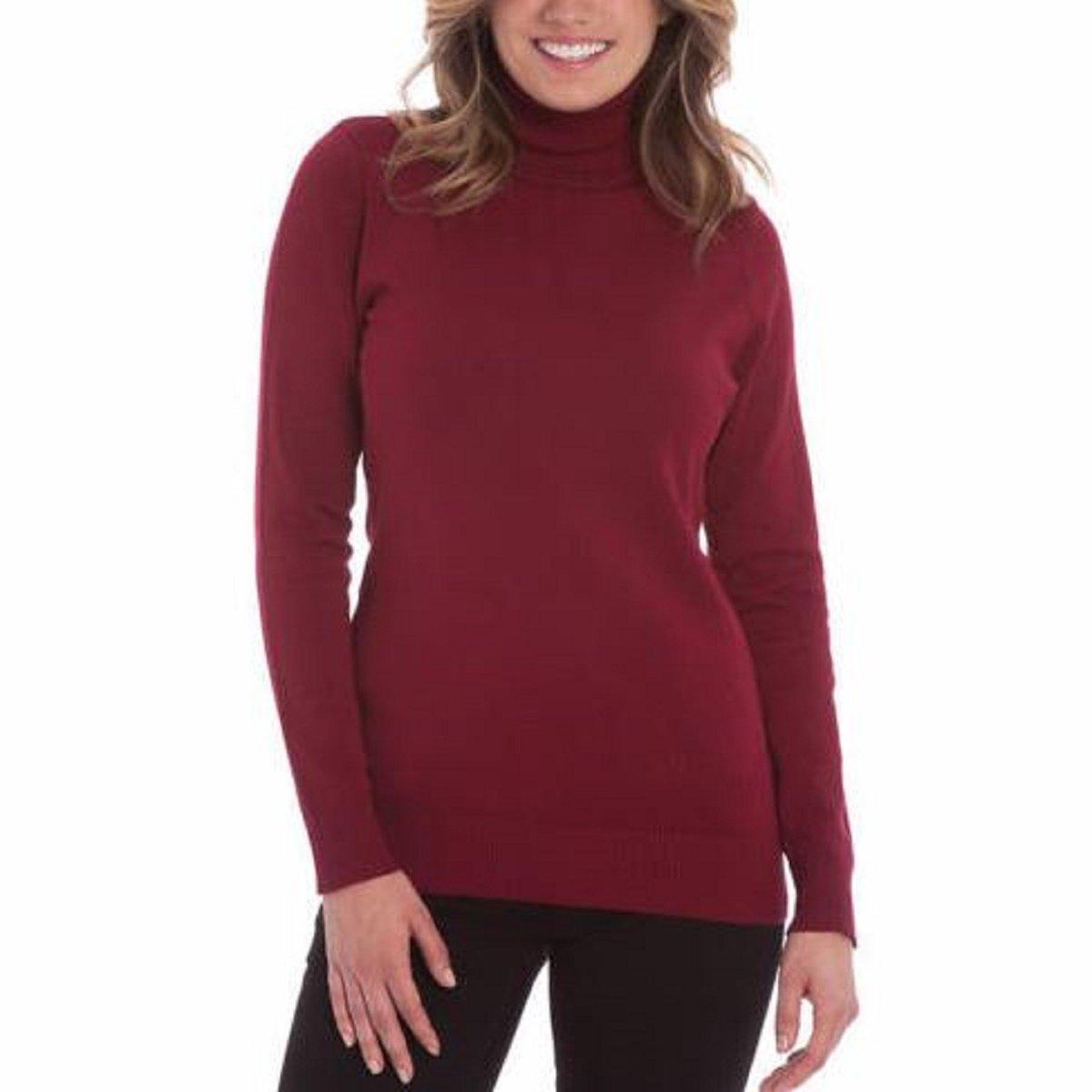5c8ea4ffbc Joseph A. Women s Solid Long Sleeve Turtleneck Sweater at Amazon Women s  Clothing store