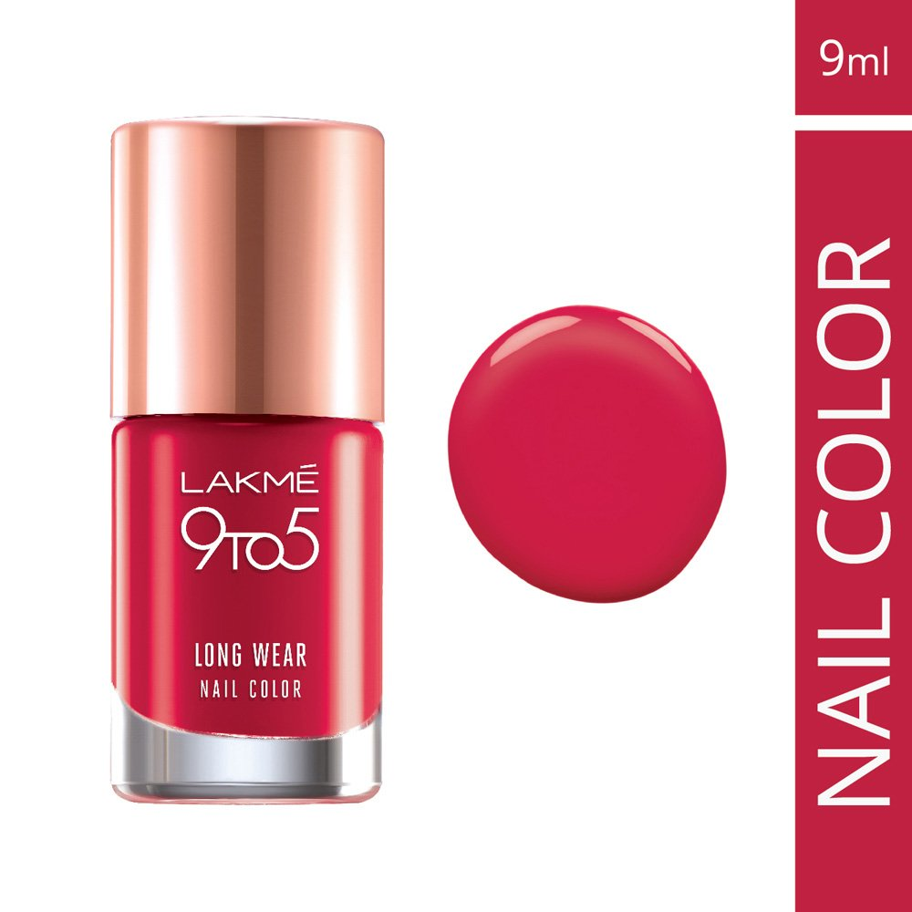 Buy Lakme 9 to 5 Long Wear Nail Color, Red Risk, 9ml Online at Low ...