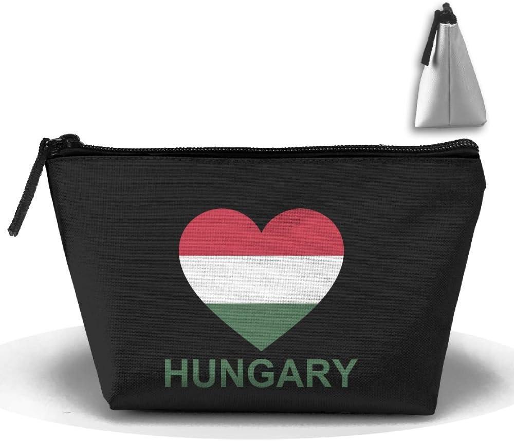 Love Hungary Trapezoid Travel Storage Pouch Clutch Bag Organizer