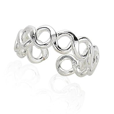 Amazon 925 Sterling Silver Symbolic Sideways Infinity Endless