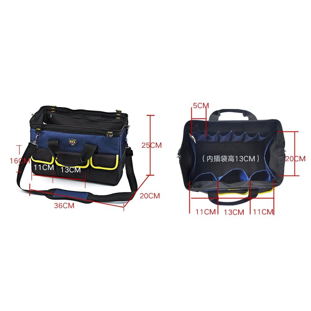 工具袋 ツールバッグ ツール キャリーバッグ 工具入れ 道具袋 収納用品 大工道具 ポーチ バッグ (Color : Dark blue) B07DP29BBJ Dark blue Dark blue