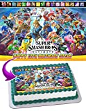 Super Smash Bros. Ultimate 2018 Edible Cake Image Topper Personalized Birthday 1/4 Sheet Custom Sheet Party Birthday Sugar Frosting Transfer Fondant Image ~ Best Quality Edible Image for cake