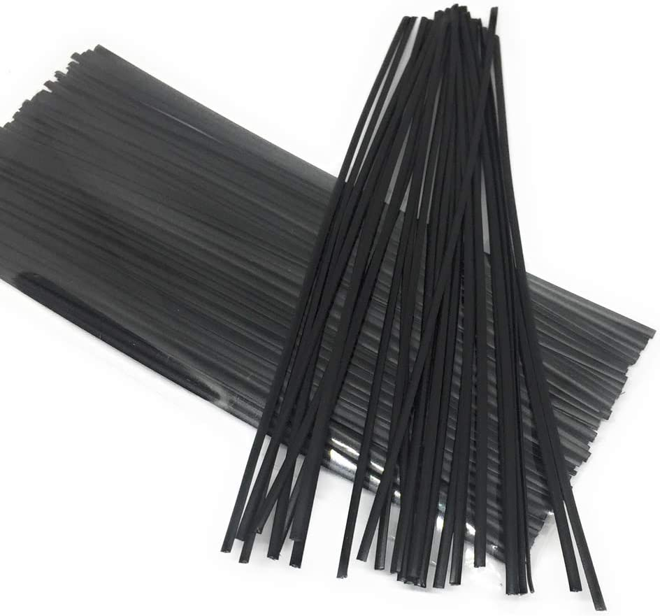 Moisture Resistant Re-Usable 200pcs Plastic Twist Ties 5 x 5//32 Blue Flat