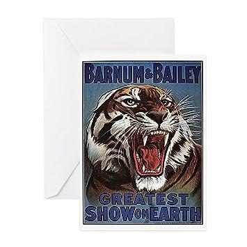 Amazon Cafepress Vintage Circus Tiger Greeting Card Note