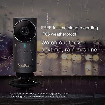 Spotcam Fhd Pro 1080p Kabellose Sicherheitskamera Für Die Heimanwendung Drinnen Draußen Nachtsicht 2 Wege Gespräche Bewegungs Und Sound Alarm Mit Kostenloser Cloud Aufzeichnung Rund Um Die Uhr Baumarkt