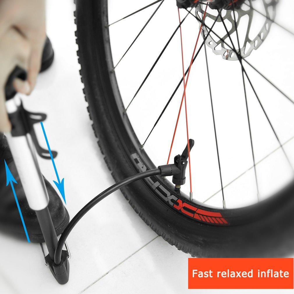 LUCKYKS monta/ña Bicicleta Bomba de Alta presi/ón Mini port/átil Bicicleta Bomba inflador de neum/áticos con fiable Compacto y Ligero f/ácil de Usar