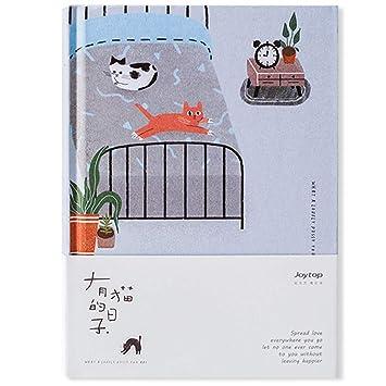 Planificador con diseño de gato, páginas de colores ...