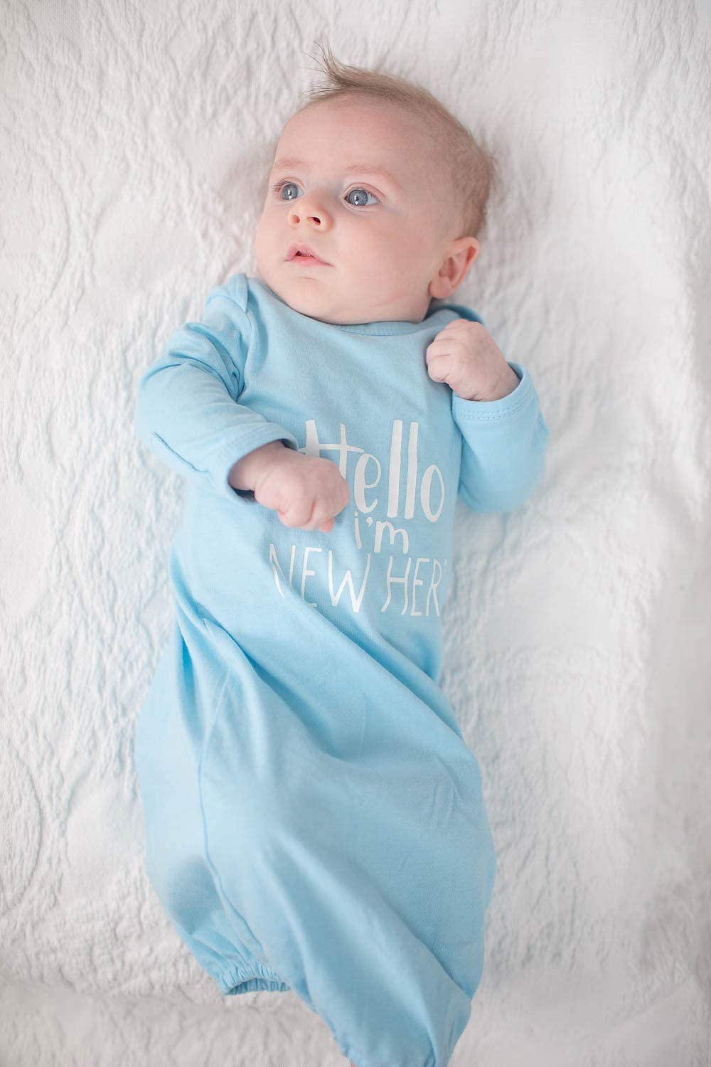 Newborn, Anais Baby Be Mine Newborn Gown and Hat Set Layette Romper Coming Home Outfit
