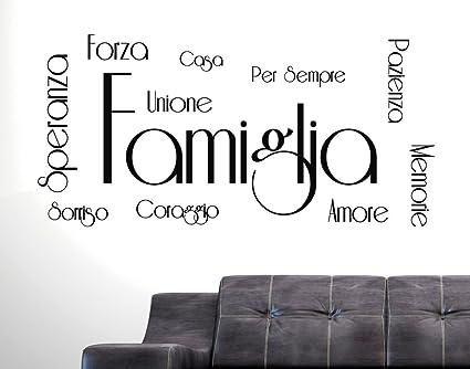 Adesivi Murali Frasi Citazioni Famiglia Amore Casa Speranza Forza Coraggio Sorriso Memorie Wall Stickers Adesivo Murale Frase Famiglia Amore