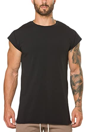 ae5407f90bc3 Vemubapis Mens Cap Sleeve Fitness Cotton T-Shirt Slim Fit Sweatshirts:  Amazon.co.uk: Clothing