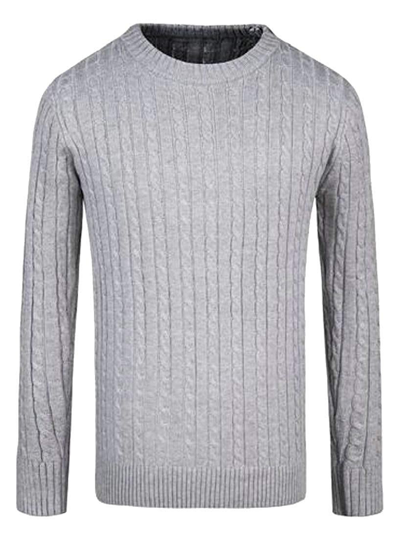 Generic Mens Casual Slim Pullover Sweaters Knitted Basic Knitwear