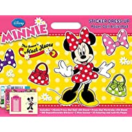 Bendon Disney Minnie Mouse Sticker Dress-Up Paper Doll Artist Pad, Coloring & Activity Book
