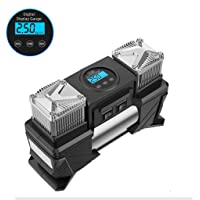 Digital Tyre Inflator, Portable Air Compressor Electric for Basketballs and Other Inflatables, 12V DC 150W, Car Tire…