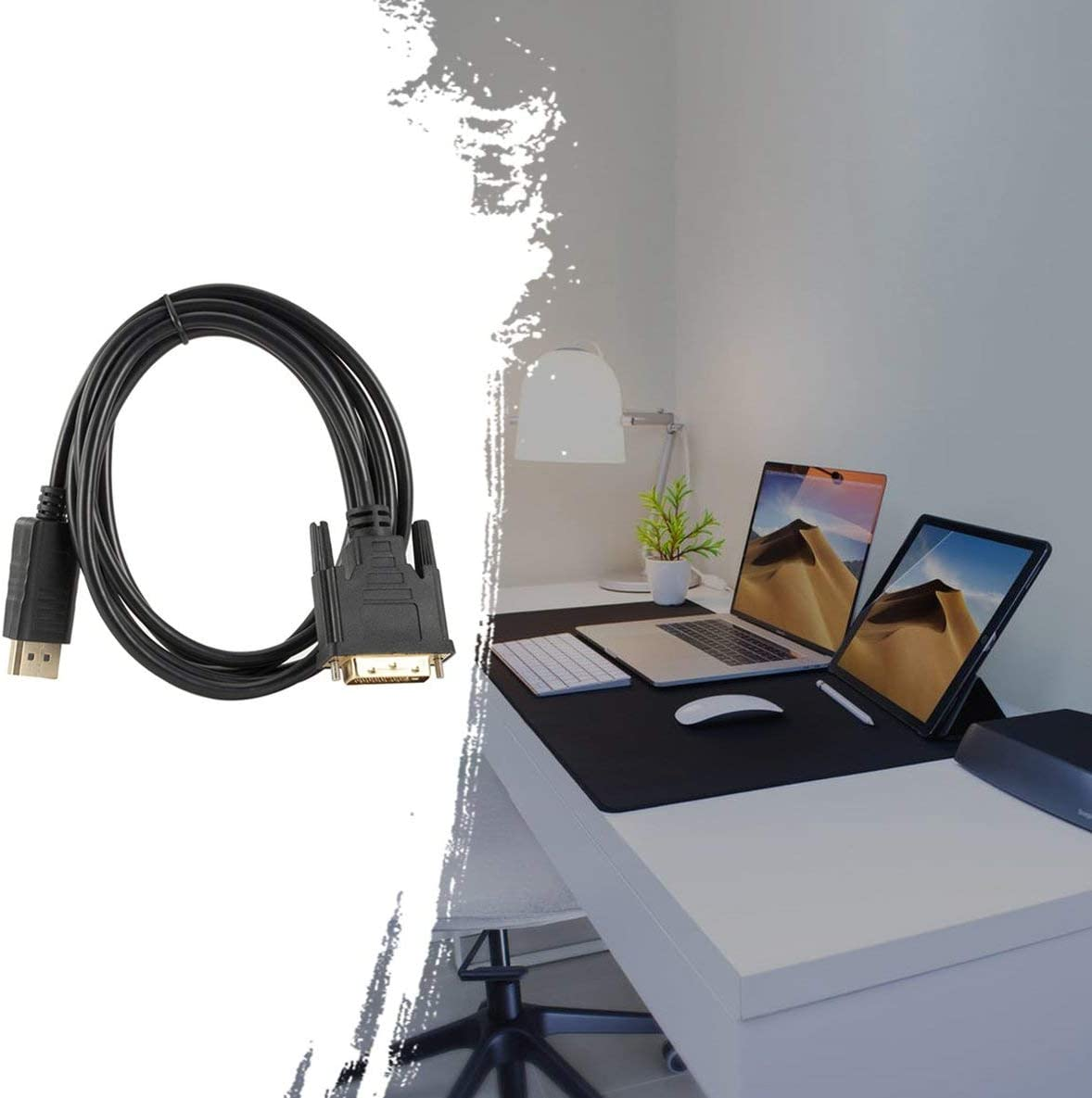 1 Adapterkabel 1,8 Meter 1080P Multiple Screens Display Funktion Noradtjcca DP zu DVI Adapterkabel Displayport zu DVI 24