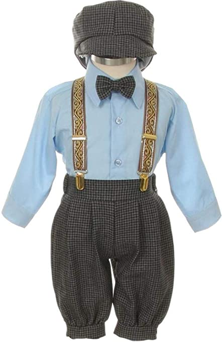 Steampunk Kids Costumes | Girl, Boy, Baby, Toddler Vintage Dress Suit-Tuxedo Knickers Outfit Set Baby Boys & Toddler-Beige/Ivory $30.00 AT vintagedancer.com