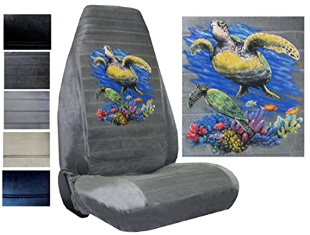 Amazon Seat Cover Connection Sea Turtles Print 2 High Back