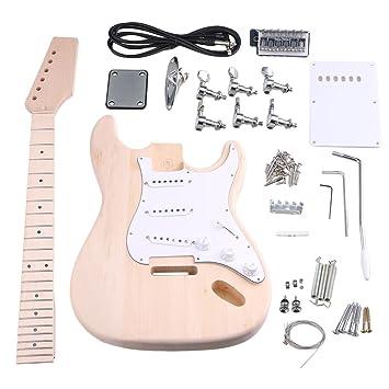 BQLZR arce 3 Single Coil Pickup 1Tone 2 botones de volumne Kit de guitarra eléctrica DIY constructor con todos los accesorios: Amazon.es: Instrumentos ...