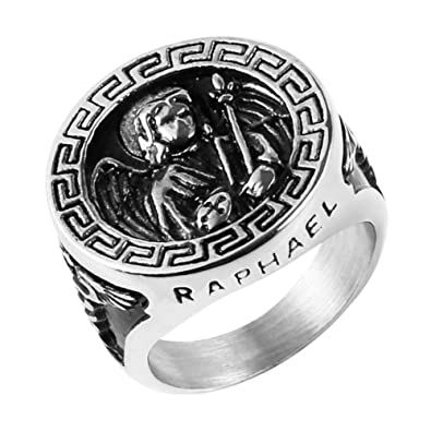 Amazon.com: Anillo de amuleto de acero inoxidable de HZMAN ...