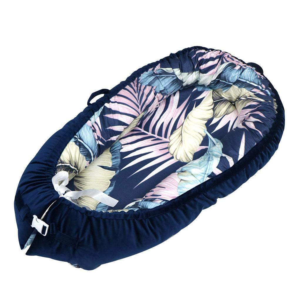 Jungles Baby Lounger and Baby Nest Sharing Co Sleeping Baby Bassinet,100 Soft Cotton Cosleeping Baby Bed Premium Quality Bigger Size (0-36months) Portable Crib