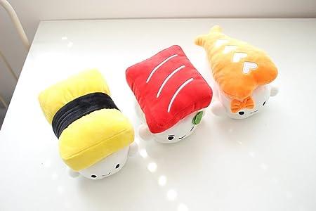 Missley Comida Japonesa Almohada Sushi Cute Cojín Plush Toy Almohada Encantadora para Dormir Decoración (Amarillo)